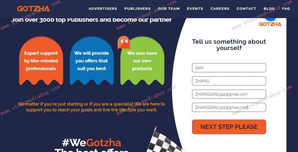 How to register gotzha