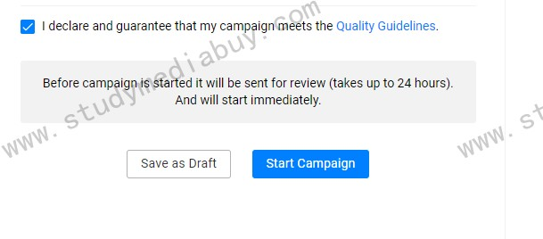 how you set up your first campaign